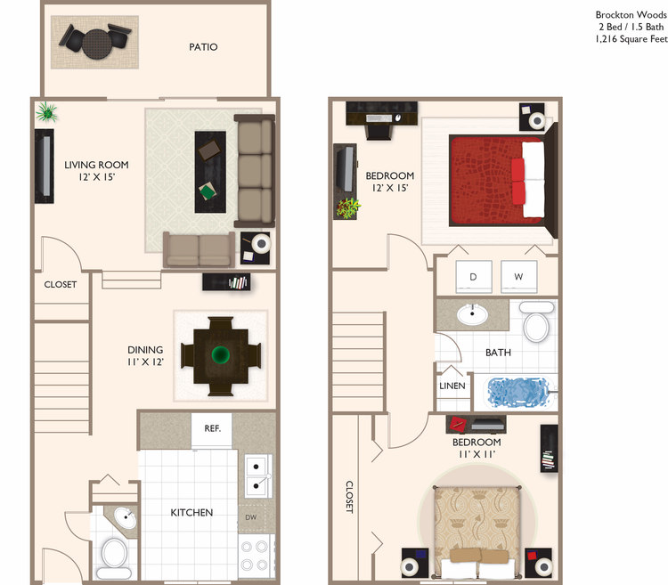 Woods 2 Townhome 1216