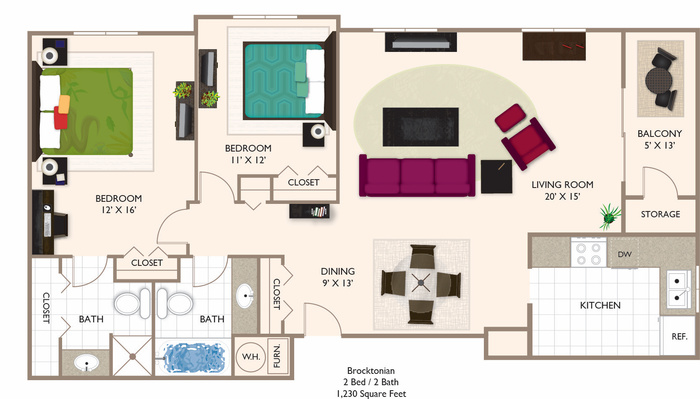 BROCKTONIAN 2.2 1230 Floor Plan