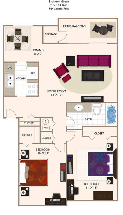 GREEN 2.1 944 Floor Plan